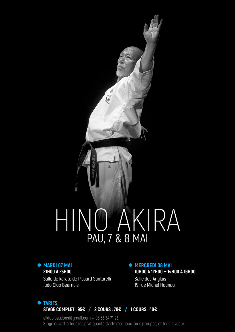 Stage Hino Akira 7-8 mai 2019